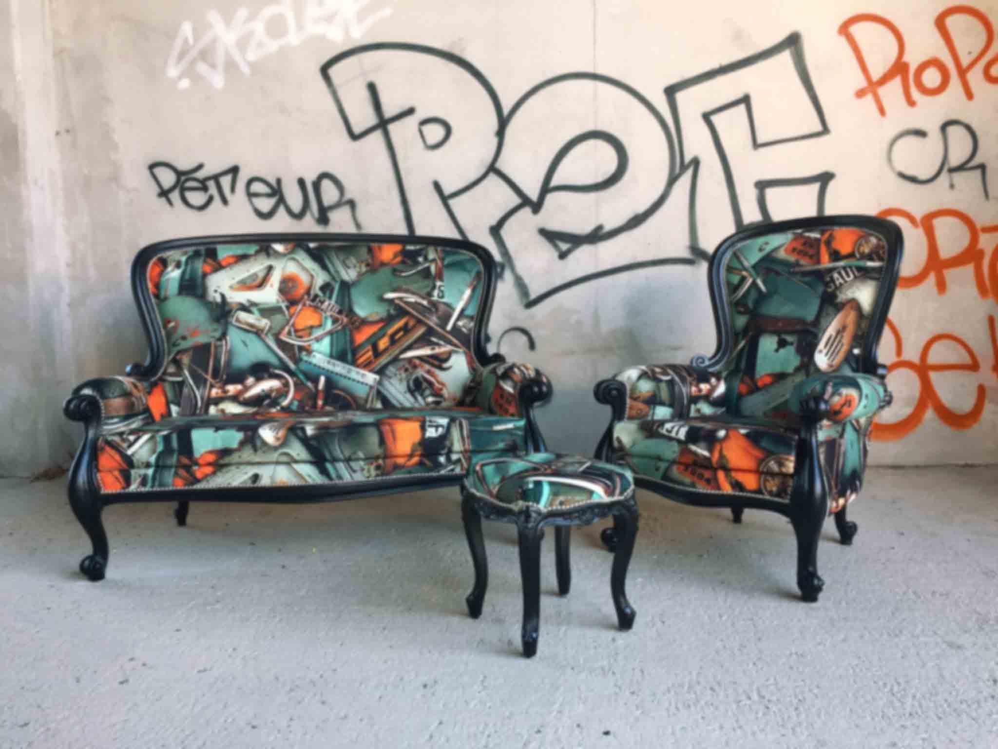 Tissu Jean Paul Gaultier ardeco tapisserie, rideaux montpellier